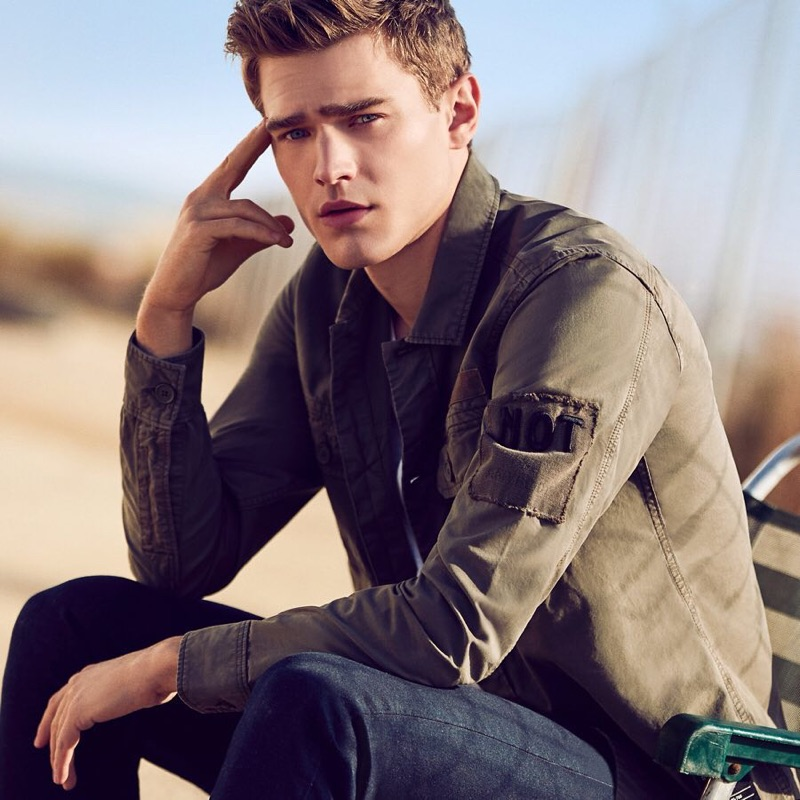 Model Bo Develius reunites with Q/S designed by for its spring-summer 2019 campaign.