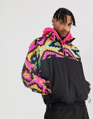 ASOS 4505 overhead ski jacket with 90s print - Multi