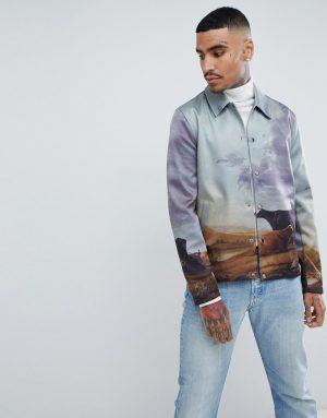 ASOS DESIGN coach jacket in western print - Multi