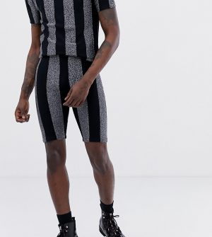 ASOS DESIGN x LaQuan Smith glitter stripe shorts - Multi