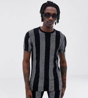 ASOS DESIGN x LaQuan Smith skinny fit glitter stripe t-shirt - Multi