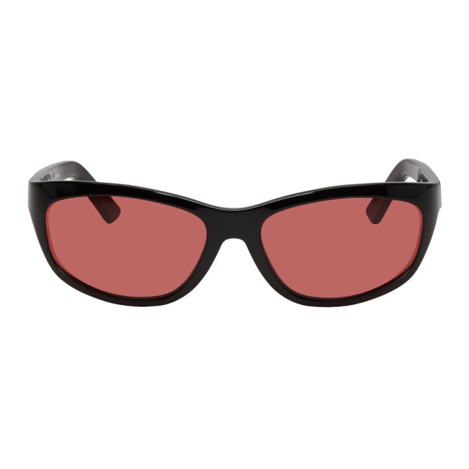 944b2c2a10065 Acne Studios Black and Red Lou Sunglasses