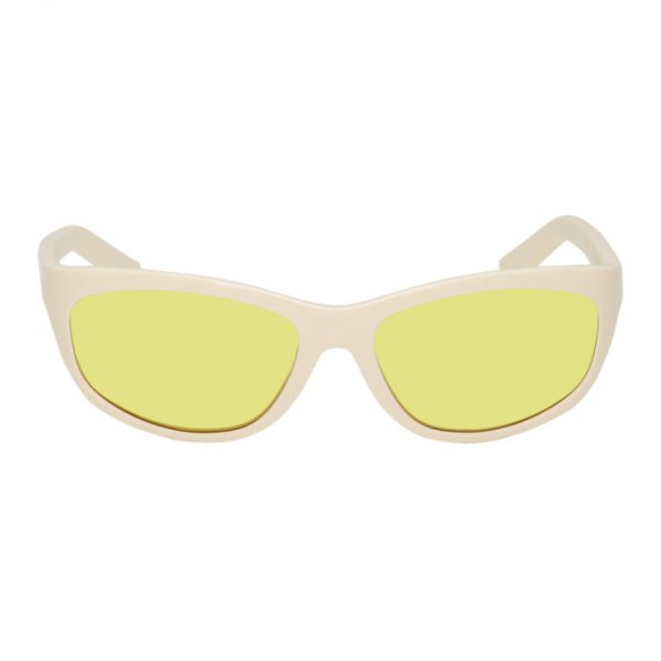 Acne Studios Off-White and Yellow Lou Sunglasses