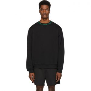 Acne Studios SSENSE Exclusive Black and Green Flogho Sweater