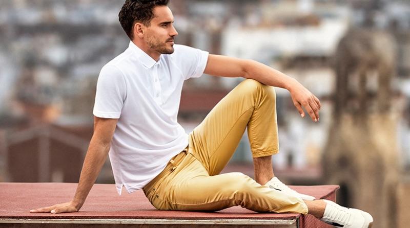 Model Arthur Kulkov fronts BRAX's spring-summer 2019 campaign.