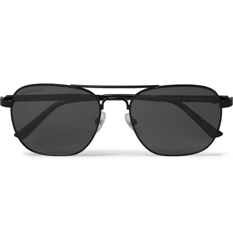Balenciaga - Aviator-Style Metal Sunglasses - Men - Black