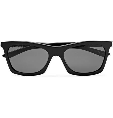 Balenciaga - D-Frame Acetate and Silver-Tone Sunglasses - Men - Black