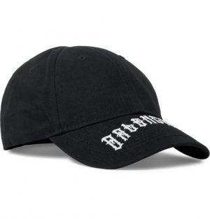 Balenciaga - Logo-Embroidered Cotton-Twill Baseball Cap - Men - Black