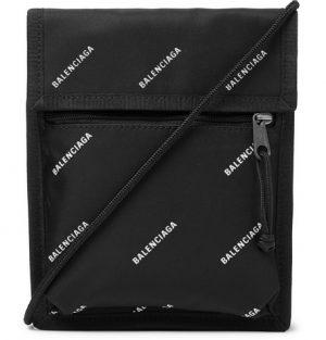 Balenciaga - Logo-Print Canvas Pouch - Men - Black