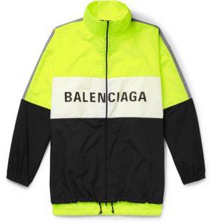 Balenciaga - Oversized Logo-Print Shell and Ripstop Jacket - Men - Bright yellow