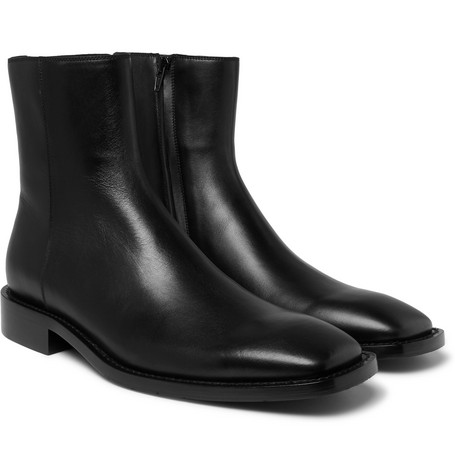 Balenciaga - Polished-Leather Boots - Men - Black