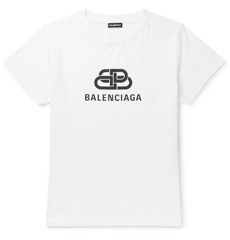 Balenciaga - Slim-Fit Logo-Print Cotton-Jersey T-Shirt - Men - White