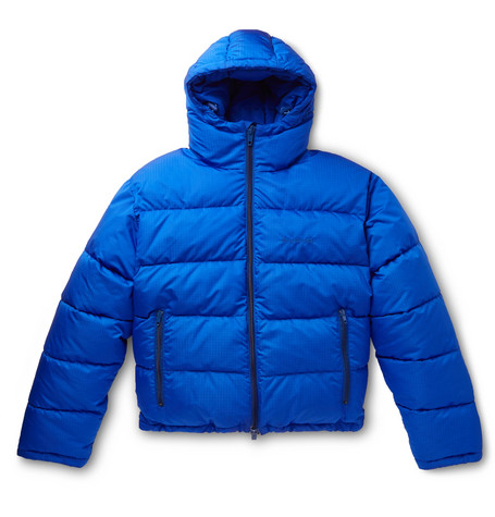 Balenciaga - Slim-Fit Quilted Padded Ripstop Hooded Jacket - Men - Blue