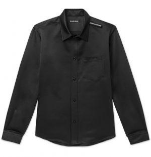 Balenciaga - Slim-Fit Satin Shirt - Men - Black