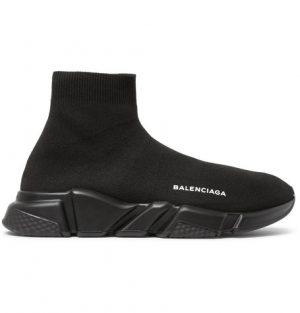 Balenciaga - Speed Sock Stretch-Knit Sneakers - Men - Black