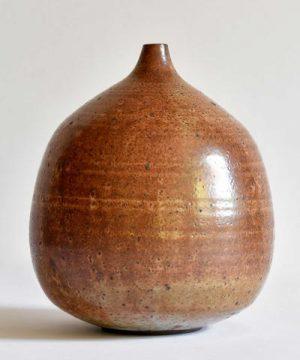 Balloon Vase in Shino Glaze