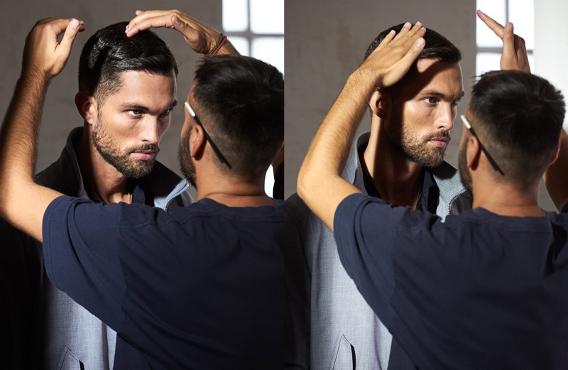 Tobias Sorensen is photographed behind the scenes of Windsor's spring-summer 2019 campaign.