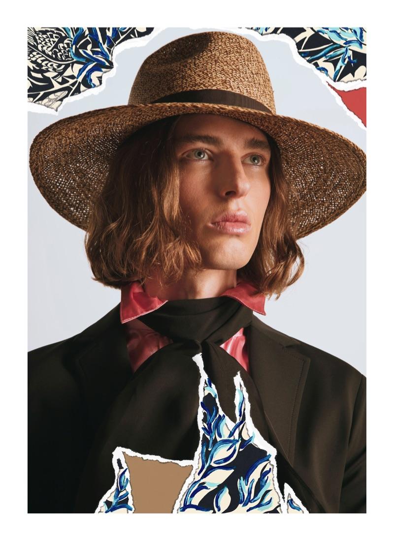 Samuel Stratton stars in Borsalino's spring-summer 2019 campaign.