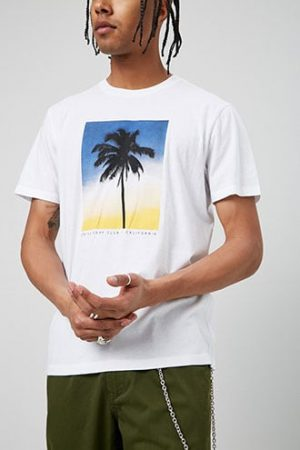 California Palm Tree Graphic Tee at Forever 21 White/yellow