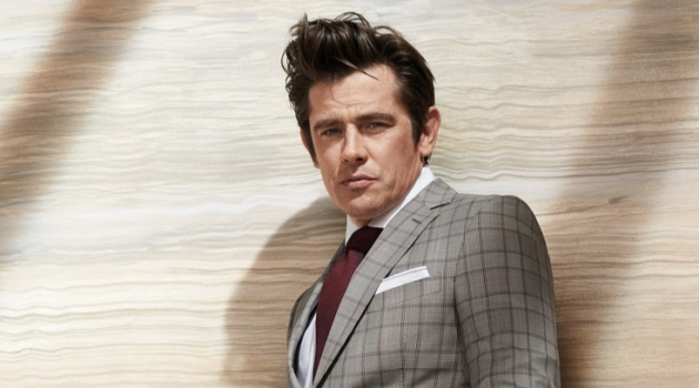 Inspiring in a dapper suit, Werner Schreyer links up with Carl Gross Black Line.