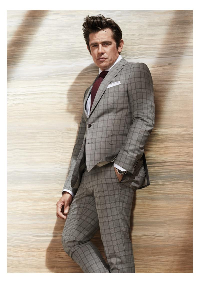 Inspiring in a dapper suit, Werner Schreyer links up with Carl Gross Black Line.