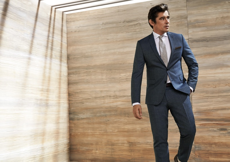 Donning a grey suit, Werner Schreyer connects with Carl Gross for spring-summer 2019.