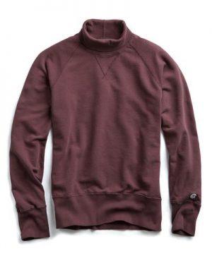Champion Turtleneck Sweatshirt in Plum