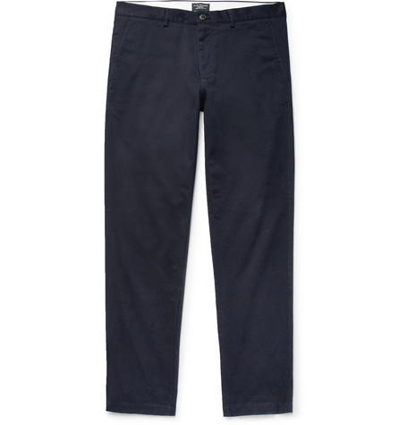 Club Monaco - Connor Slim-Fit Cotton-Twill Chinos - Men - Navy