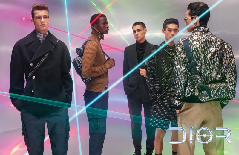 Lukas Gomann, Serigne Lam, Ludwig Wilsdorff, Taemin Park, and Chris Kojiro star in Dior Men's pre-fall 2019 campaign.