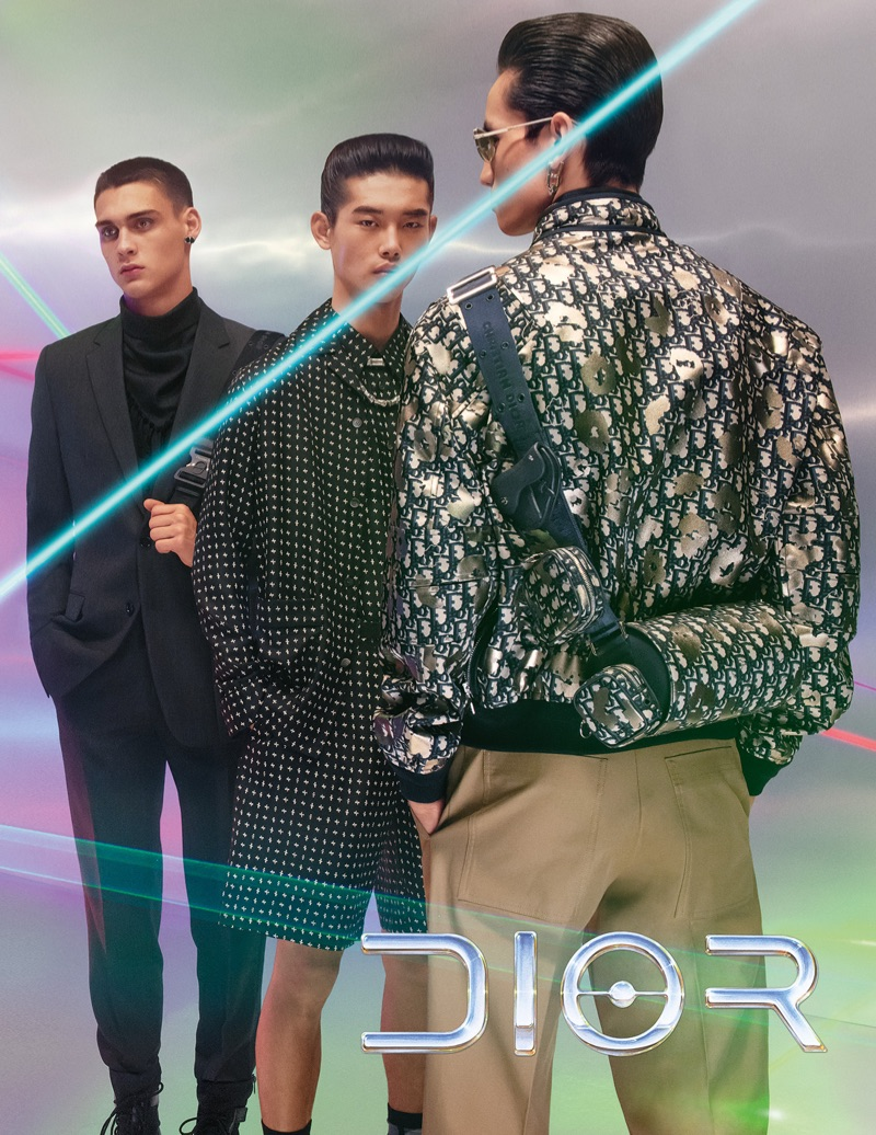 Ludwig Wilsdorff, Taemin Park, and Chris Kojiro star in Dior Men's pre-fall 2019 campaign.