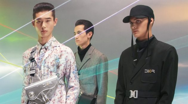 Dior Men enlists Taemin Park, Chris Kojiro, and Ludwig Wilsdorff as the stars of its pre-fall 2019 campaign.