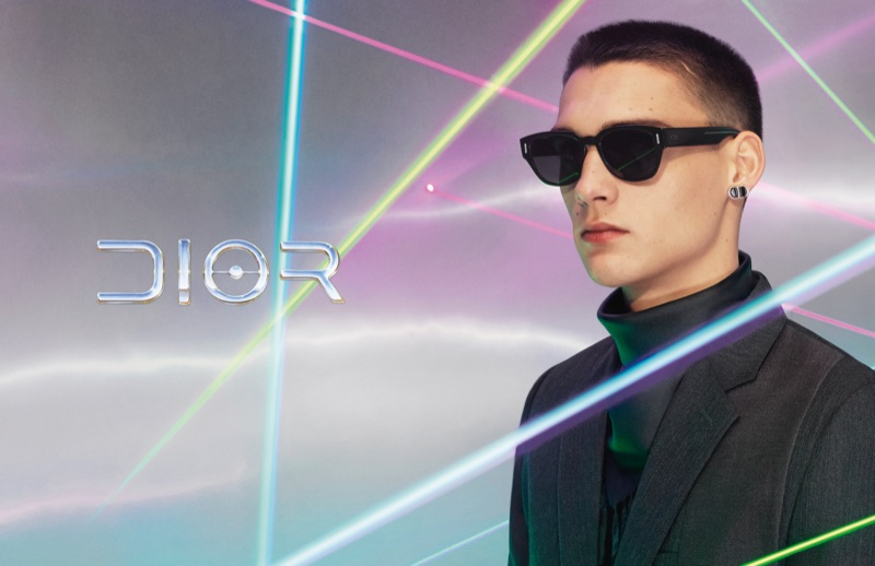 A cool vision, Ludwig Wilsdorff fronts Dior Men's eyewear campaign for pre-fall 2019.
