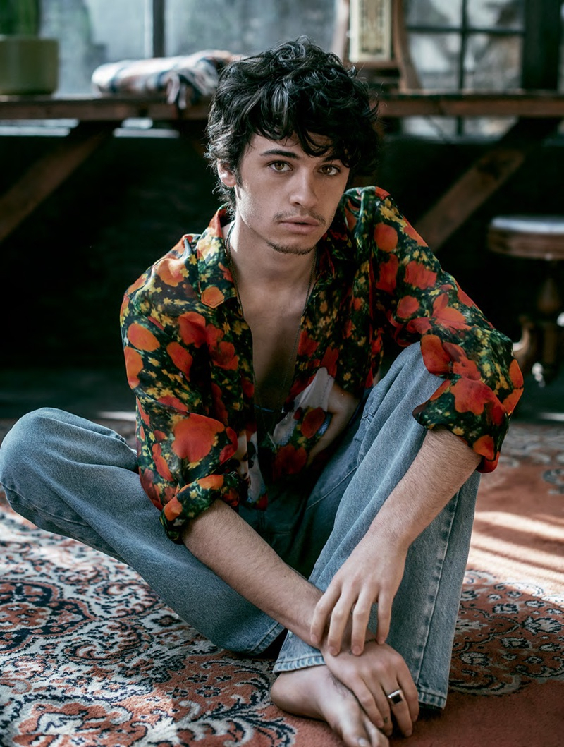 Dylan Jagger Lee Embraces Rock-Inspired Fashions for GQ Style Russia