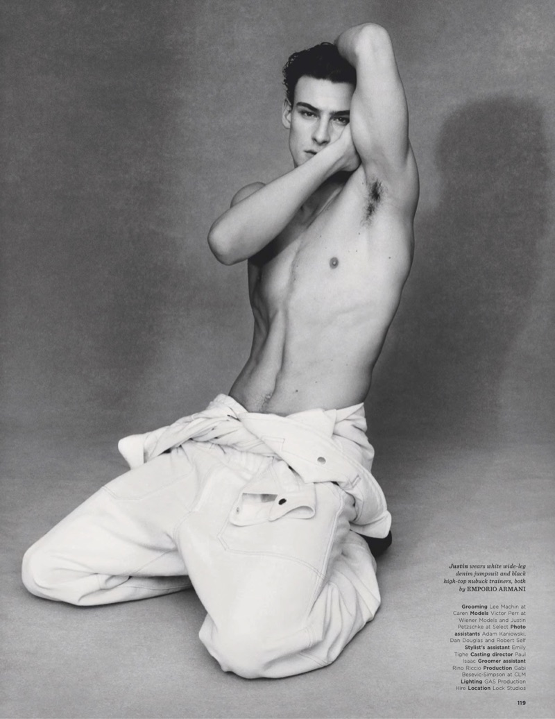 Something in the Jeans: Justin Petzschke & Victor Perr Don Emporio Armani for British GQ Style