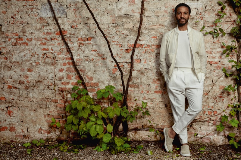 Ermenegildo Zegna enlists André Holland to star in its spring-summer 2019 campaign.