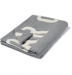 Fear of God - Logo-Appliquéd Mélange Loopback Cotton-Blend Jersey Blanket - Men - Gray