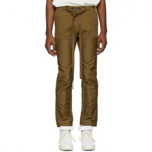 Fear of God Tan Double Front Work Trousers