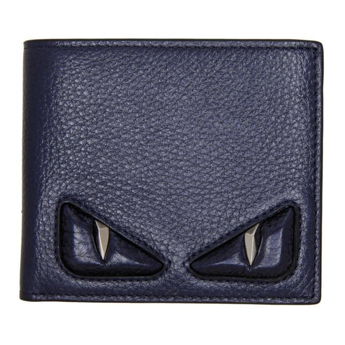 8e0f76c1 Fendi Blue Bag Bugs Bifold Wallet