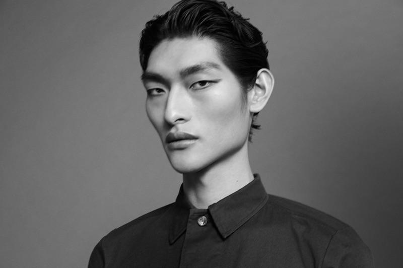 Junkai Qi fronts the FIVEISM x THREE cosmetics campaign.