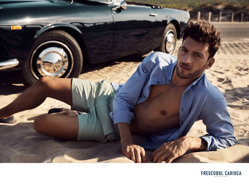 Kevin Sampaio hits the beach for Frescobol Carioca's spring-summer 2019 campaign.