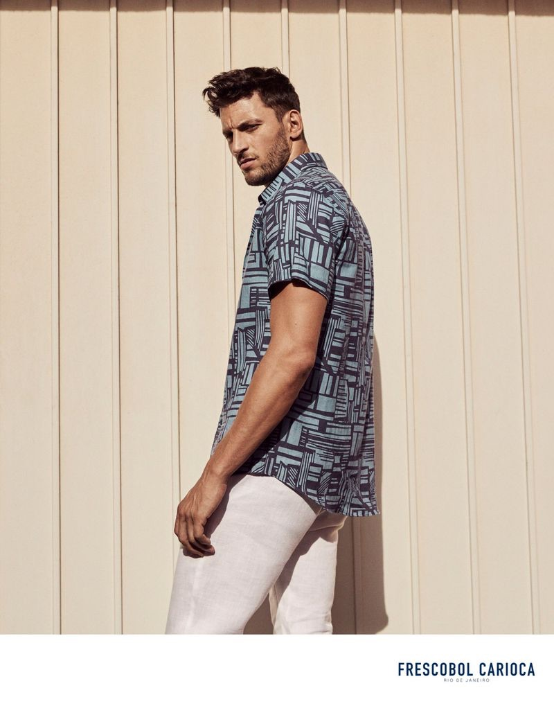 Front and center, Kevin Sampaio stars in Frescobol Carioca's spring-summer 2019 campaign.