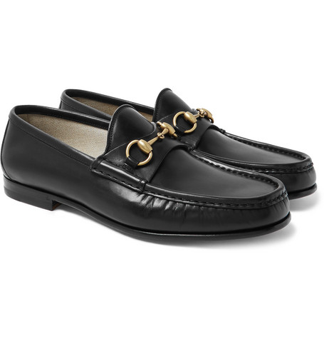3fc7069fc77 Gucci – Roos Horsebit Leather Loafers – Men – Black