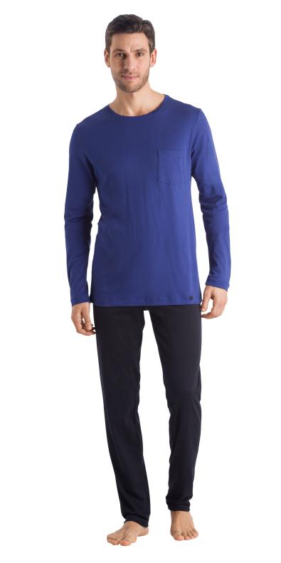 HANRO (75437) Night & Day L/SLV Pajama - Brilliant Blue S