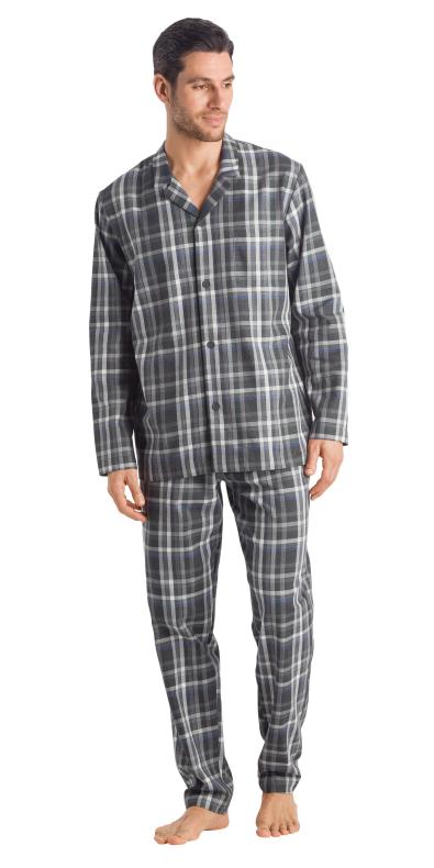 HANRO (75806) Loran Long Sleeve Pajama - Big Karo XXL