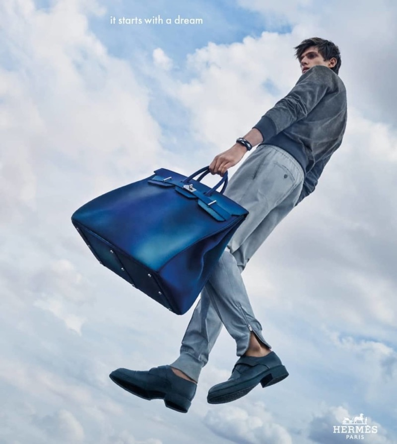 Edoardo Sebastianelli stars in Hermès' spring-summer 2019 campaign.