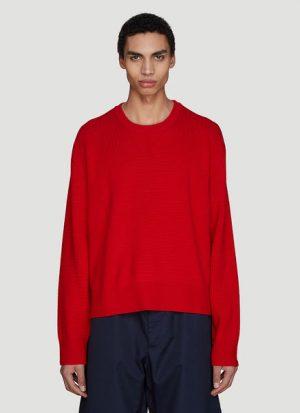 Intarsia Stripe Knit Sweater