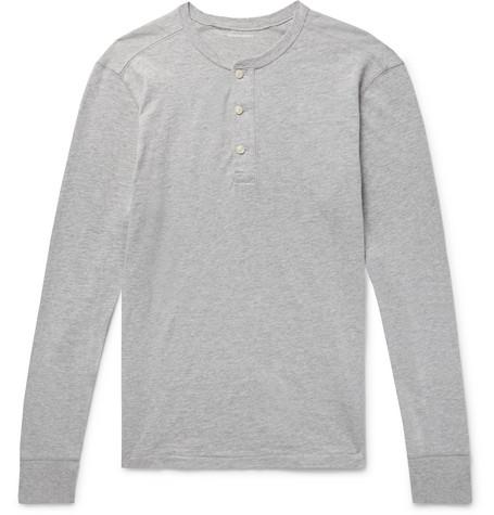 J.Crew - Garment-Dyed Slub Cotton-Jersey Henley T-Shirt - Men - Light gray