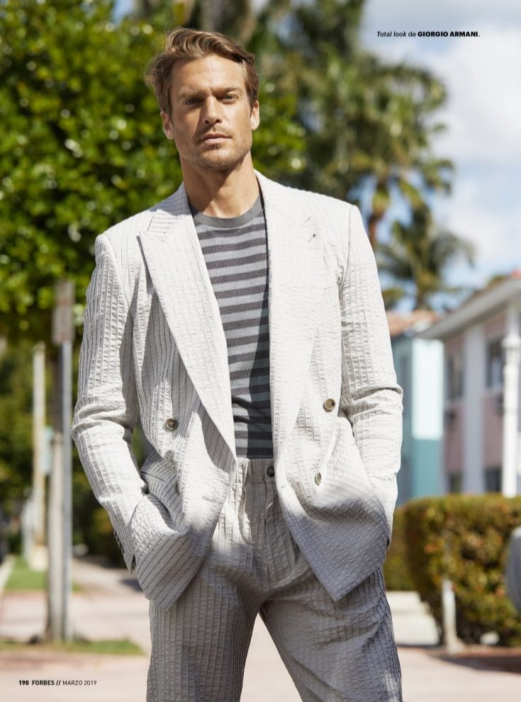 Jason Morgan Dons Chic Neutrals for Forbes España