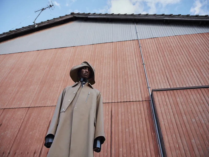 Visiting the Japanese coast, Myles Dominique fronts Jil Sander's spring-summer 2019 campaign.