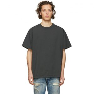 John Elliott Grey Oversized Basalt T-Shirt